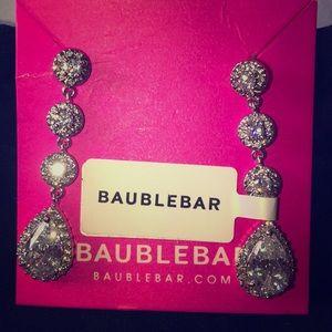 Baublebar Triple Flor Tear Drop earrings. NWT